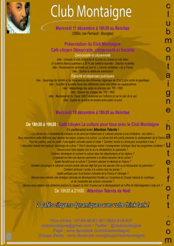 club montaigne,club montaigne bourges,club montaigne culture,club montaigne présentation