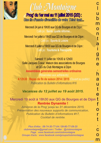 club montaigne, club montaigne bourges, club montaigne dijon, james belaud, james belaud bourges, james belaud dijon, jbelaud