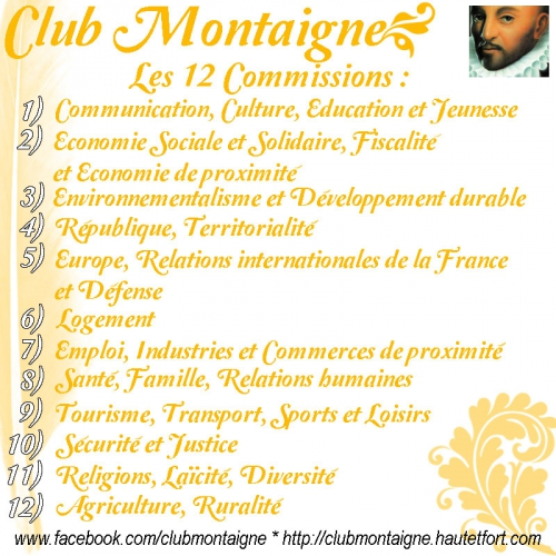 club Montaigne économie, club Montaigne culture, club Montaigne jeunesse, club Montaigne présentation