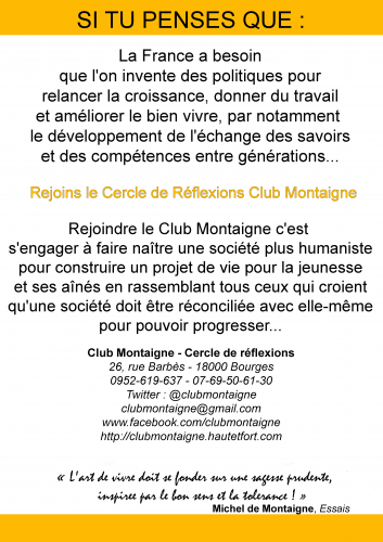 club montaigne bourges, club montaigne 2019, club montaigne 2020, james belaud, james belaud bourges, communication club montaigne