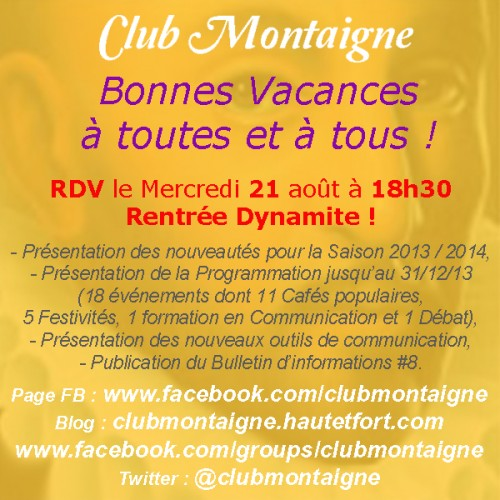 club montaigne, james belaud, james belaud dijon, jbelaud, club montaigne dijon, rentrée club Montaigne